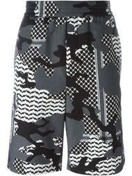 шорты с камуфляжным принтом Neil Barrett