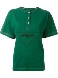 футболка с воротником-хенли Krizia Vintage