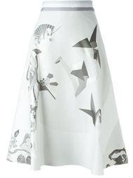 юбка с цветочным принтом   Thom Browne