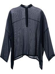 прозрачная блузка свободного кроя Helmut Lang