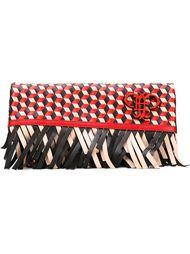 плетеный клатч с бахромой Emilio Pucci