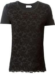 футболка с цветочной вышивкой  Moncler