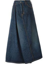 драпированная джинсовая юбка Junya Watanabe Comme Des Garçons