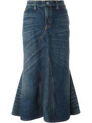 джинсовая юбка с подолом-годе Junya Watanabe Comme Des Garçons