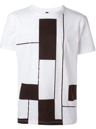 футболка с геометрическим принтом Drome