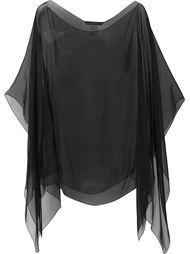 прозрачный шарф Alberta Ferretti