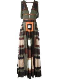 вечернее платье с панельным дизайном Valentino