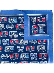 нагрудный платок с принтом фотоаппаратов Kiton
