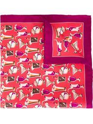 нагрудный платок с принтом коктейлей Kiton