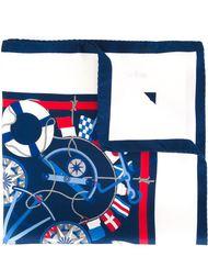 нагрудный платок с принтом корабельных принадлежностей Kiton