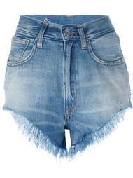 джинсовые шорты с бахромой +People