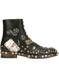декорированные ботинки  Maison Margiela