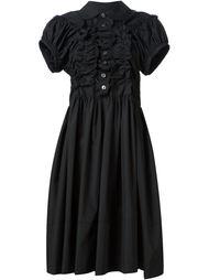 платье-рубашка с рюшами Comme Des Garçons Tricot