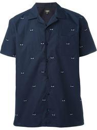 рубашка с вышивкой 'Bag Bugs' Fendi