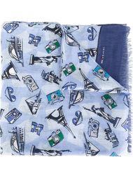 шарф с графическим принтом Kiton