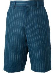 pinstriped bermuda shorts Umit Benan