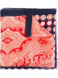 шарф с комбинированным принтом Kiton