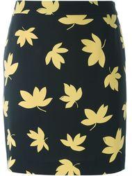 юбка с принтом листьев Versus