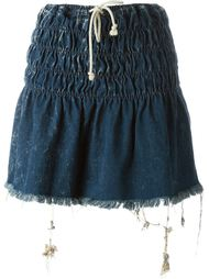 washed drawstring denim skirt Chloé