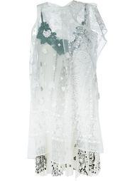 """многослойное платье с принтом """"пейсли"""" Sacai"""