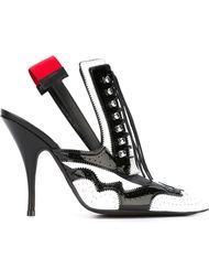 туфли с красной вставкой сзади Givenchy