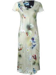 платье с цветочным принтом   Calvin Klein Collection