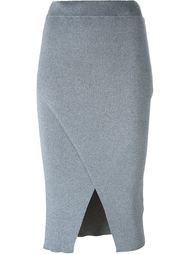 трикотажная юбка с запахом C/Meo