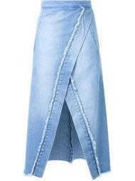 джинсовая юбка с запахом Kitx