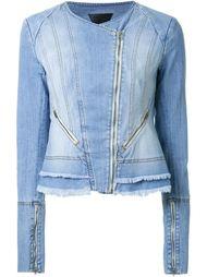 джинсовая куртка с потертой отделкой  Kitx