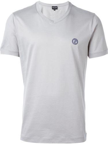футболка с V-образным вырезом Giorgio Armani