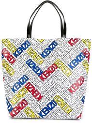 сумка-тоут с принтом-логотипом Kenzo