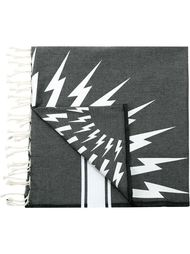 lightning bolt print scarf Neil Barrett