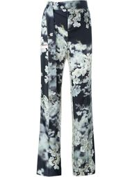 floral print tailored trousers Calvin Klein Collection