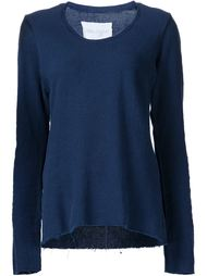 'Slouchy Crew' knitted blouse Greg Lauren