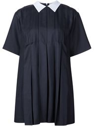 puritan collar pleated mini dress Maison Kitsuné