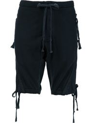 fleece tie-hem shorts Greg Lauren