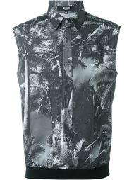 рубашка без рукавов с принтом пальм Versus
