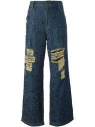 beaded wide leg jeans Ashish