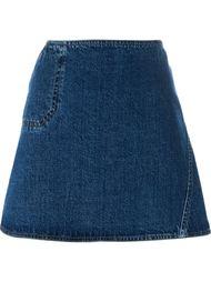джинсовая юбка А-образного кроя   Courrèges