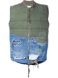 жилет с джинсовой деталью 'Bomber' Greg Lauren