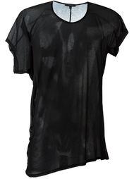 драпированная футболка асимметричного кроя Unconditional