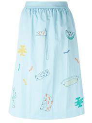 юбка с вышивкой  Jimi Roos