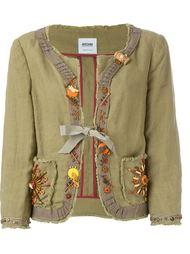 декорированный пиджак  Moschino Vintage