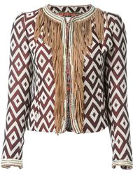 bead-trim fringed jacket Bazar Deluxe