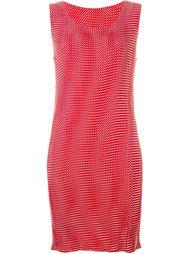 платье с оптическим узором в горох Issey Miyake Vintage