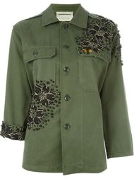 flower appliqué military jacket Night Market