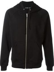 silver-tone zip hoodie Blk Dnm