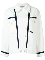 куртка с контрастной окантовкой Chanel Vintage