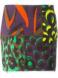 юбка мини в стиле пэчворк  Versace
