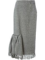 юбка в ломаную клетку Yohji Yamamoto Vintage